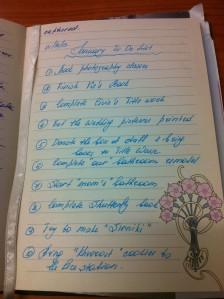 January To Do list